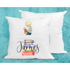 Personalised Reading Pillow For Boys - Blonde