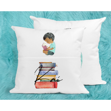 Personalised Reading Pillow For Boys - Afro