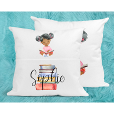 Personalised Reading Pillow For Girls - Afro