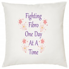Fibromyalgia Awareness, Cushion (Fighting Fibro One Day At A Time)