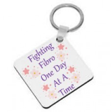 Fibromyalgia Awareness, Keyring (Fighting Fibro One Day At A Time)