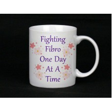 Fibromyalgia Awareness, Mug (Fighting Fibro One Day At A Time)