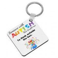 Someone With Autism Has Taught Me To Think Outside Of The Box, Keyring