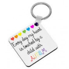 Every Day My Heart Is Touched By A Child With Autism, Keyring