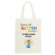 Someone With Autism Has Taught Me To Think Outside Of The Box, Tote Bag