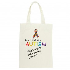 My Child Has Autism, What's Your Kids Superpower?, Tote Bag