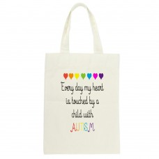 Every Day My Heart Is Touched By A Child With Autism, Tote Bag