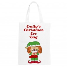 Child's Personalised Christmas Eve Tote Bag