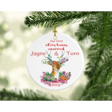 First Christmas Married Christmas Ornament