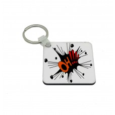 OH, Comic Book Key Ring
