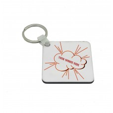 Personalised Text, Comic Book Key Ring
