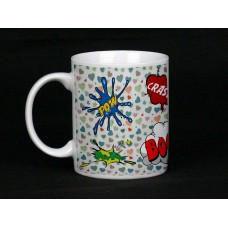 Love Heart Comic Book Design Mug