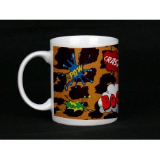 Leopard Print Comic Book Design Ceramic Mug