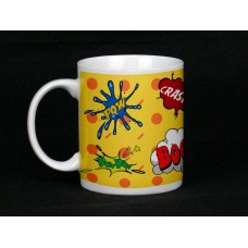 Yellow Comic Book Design Ceramic Mug
