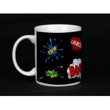 Black Comic Book Design Mug