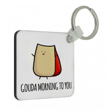 Gouda Morning Key Ring