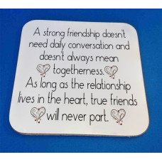 Strong Friendship Decorative Coaster