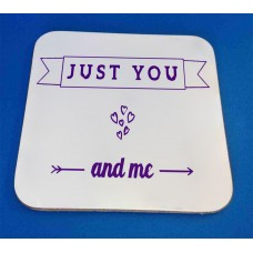 Just You And Me Decorative Coaster