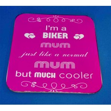 Biker Mum Decorative Coaster