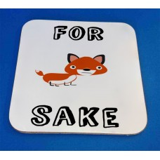 For Fox Sake Decorative Coaster