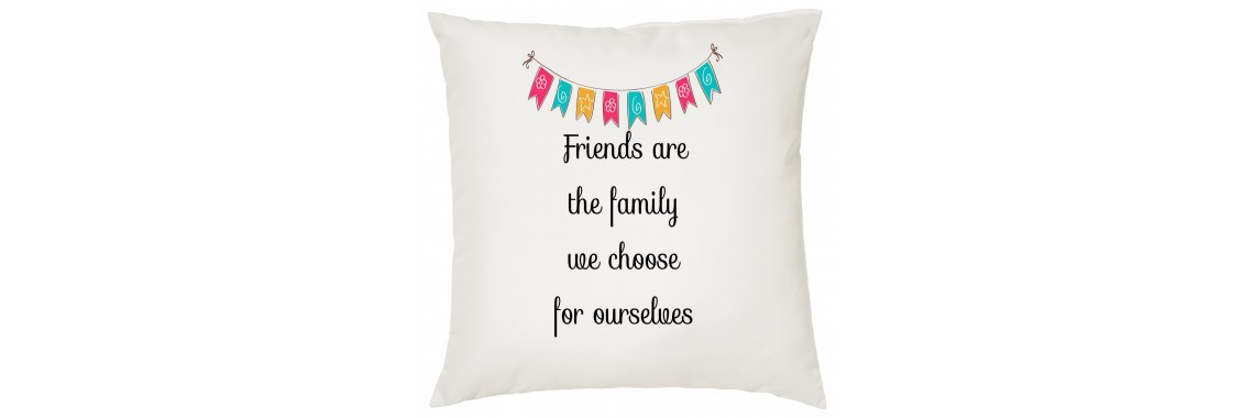 Friends Are The Family Cushion