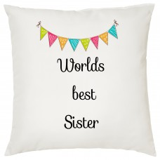 Worlds Best Sister Decorative Cushion