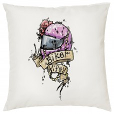 Biker Wifey Decorative Cushion