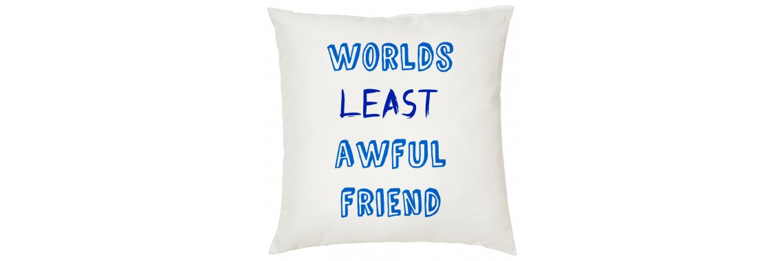 Worlds Least Awful Friend Cushion