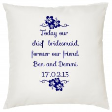 Bridesmaid Thank You Gift  Decorative Cushion