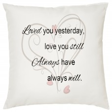 Loved You Yesterday Decorative Cushion