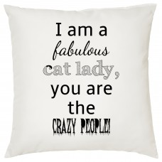 I Am A Fabulous Cat Lady Decorative Cushion
