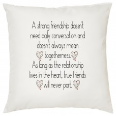 Strong Friendship Decorative Cushion