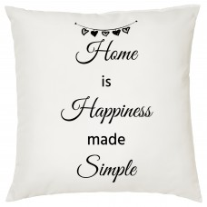 Home Is Happiness Made Simple, Decorative Cushion