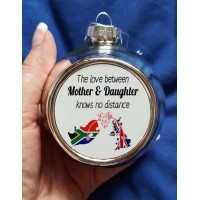 Mother & Daughter Christmas Bauble (pink heart)