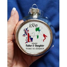 Father & Daughter Christmas Bauble (split text)