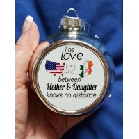 Mother & Daughter Christmas Bauble (split text)