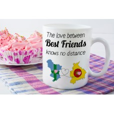 The Love Between Best Friends Knows No Distance Mug