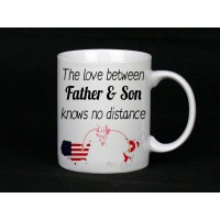 The Love Between Father & Son Knows No Distance Mug