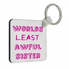 Worlds Least Awful Sister Key Ring