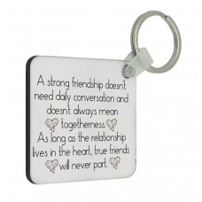 Strong Friendship Key Ring
