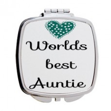 Worlds Best Auntie Mirror Compact