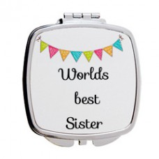 Worlds Best Sister Mirror Compact