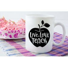 Live, Love, Teach Teacher Ceramic Mug