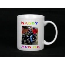 Daddy & Me Personalised Photo Mug, Ceramic Mug