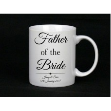 Personalised Father Of The Bride Mug