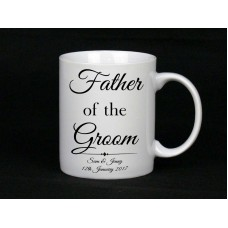 Personalised Father Of The Groom Mug