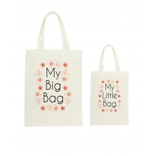 Mummy & Me Pretty Pink Flowers Tote Bag