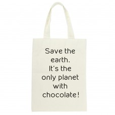 Save The Earth It's The Only Planet With Chocolate, Tote Bag