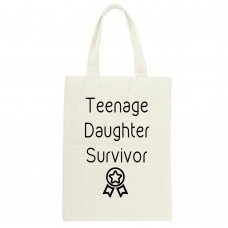 Teenage Daughter Survivor, Tote Bag