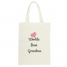 Worlds Best Grandma (heart) Tote Bag